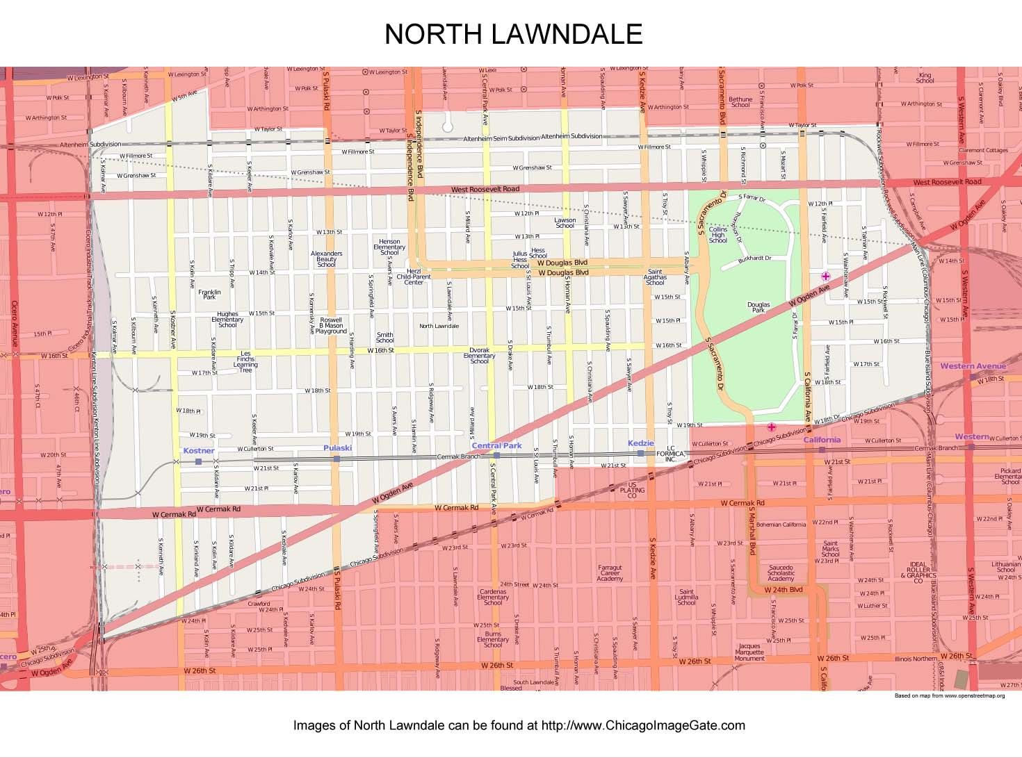 Lawndale Chicago Photos  Chicago Photos  Images  Pictures - Kenwood chicago map